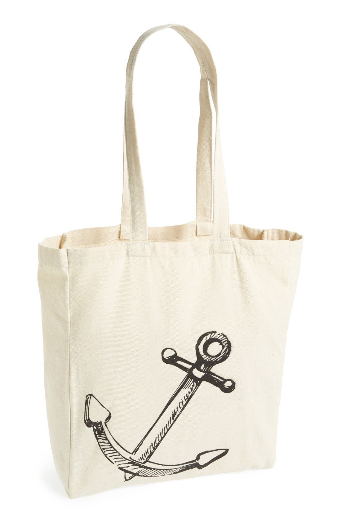 Main Image - Tri-Coastal Design Anchor Graphic Tote (Juniors) (Online Only)