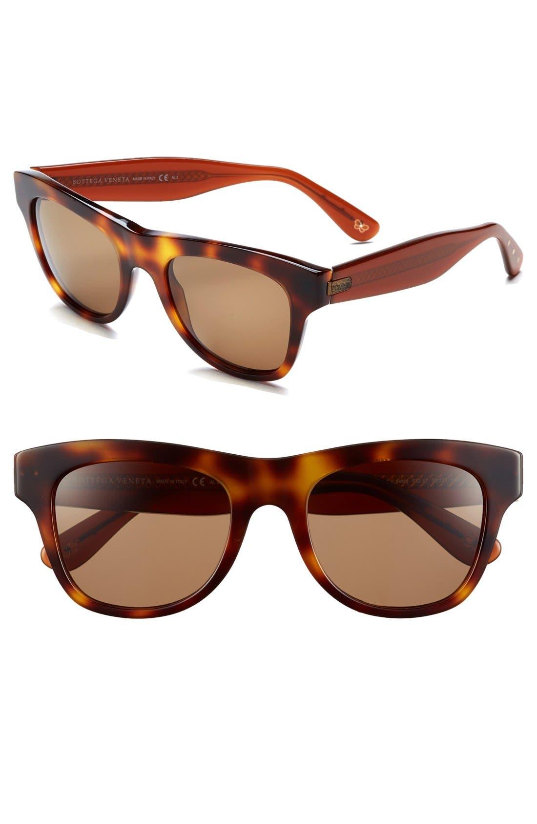 Alternate Image 1 Selected - Bottega Veneta 52mm Retro Sunglasses
