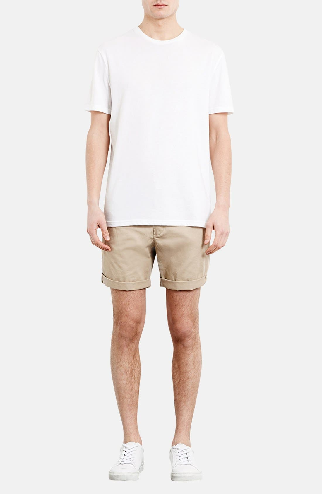 Alternate Image 4  - Topman Skinny Fit Chino Shorts