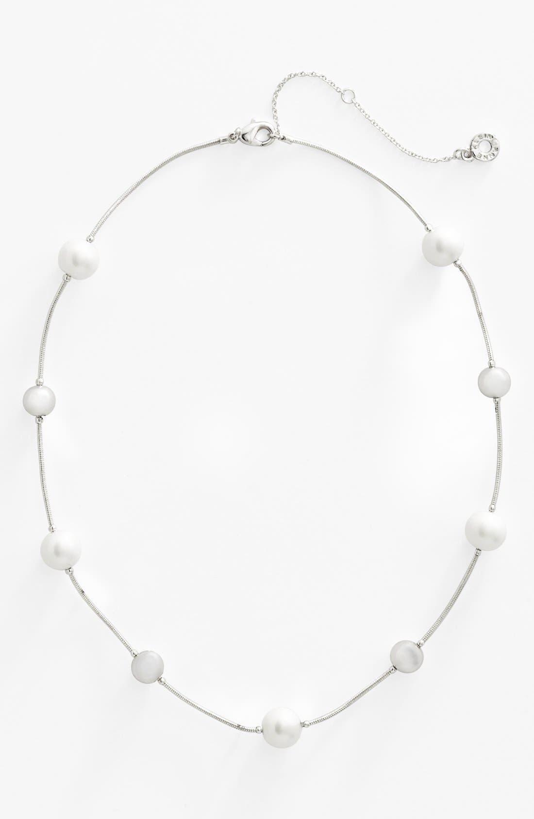 Alternate Image 2  - Anne Klein Glass Pearl Collar Necklace