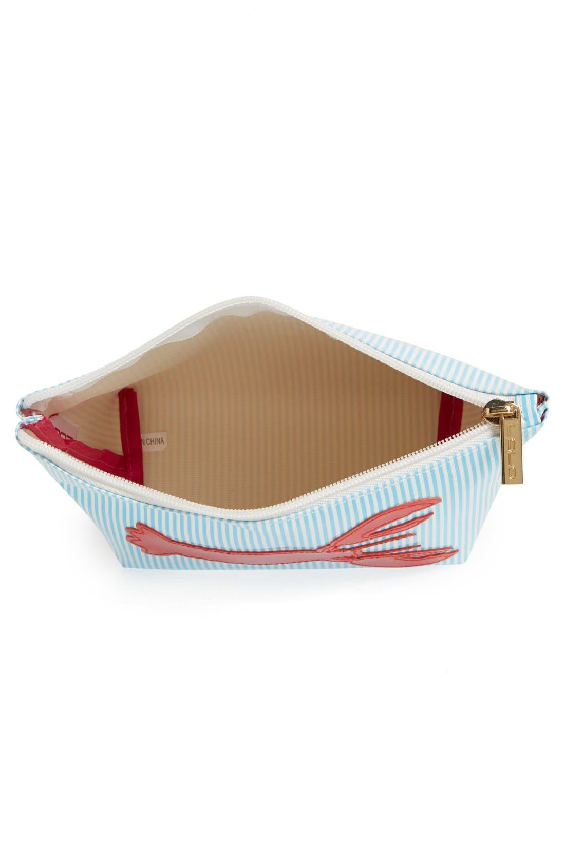 Alternate Image 3  - Lolo 'Avery Stripe - Medium' Cosmetics Case