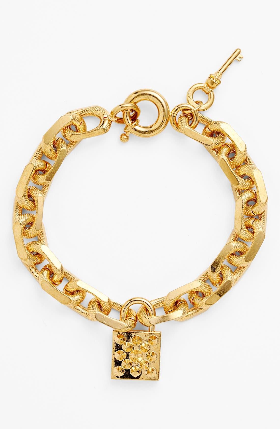 Alternate Image 1 Selected - Alexander McQueen Lock Pendant Bracelet
