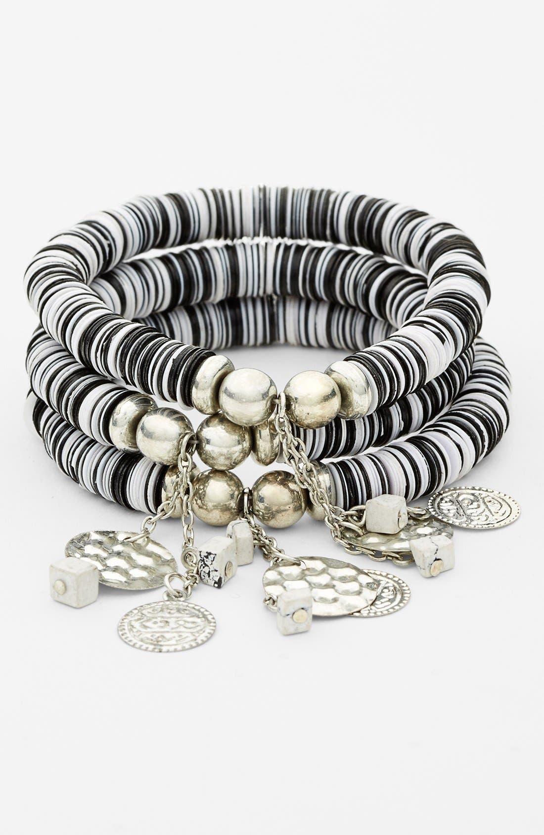 Alternate Image 1 Selected - Spring Street Sequin Stretch Bracelet (Set of 3)