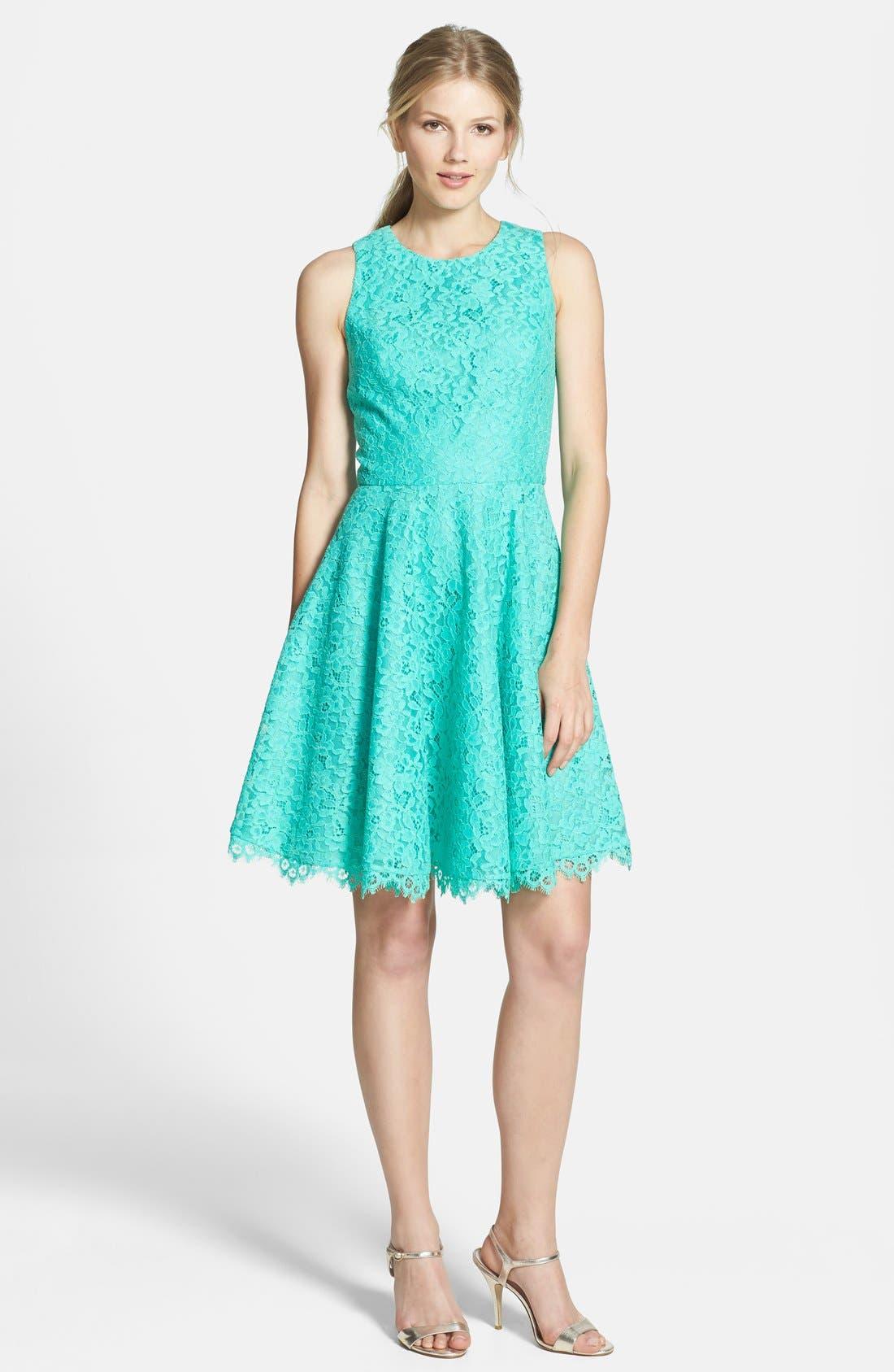 Alternate Image 3  - Shoshanna 'Judith' Lace Fit & Flare Dress