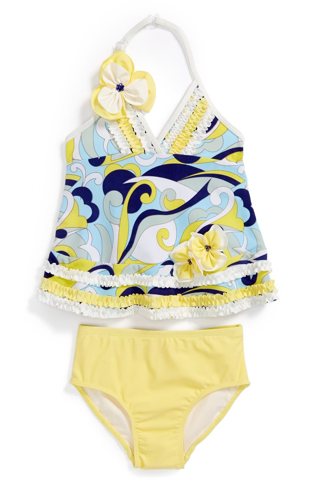 Main Image - Isobella & Chloe 'Caribbean Current' Two-Piece Swimsuit (Toddler Girls)