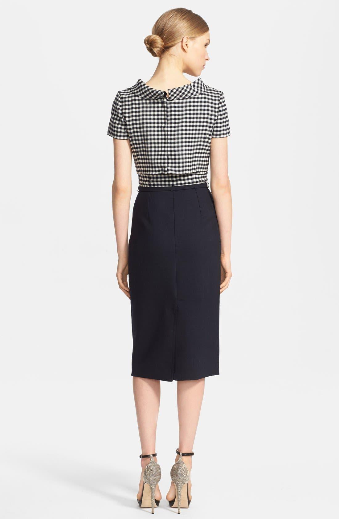 Alternate Image 2  - Oscar de la Renta Stretch Wool Pencil Dress