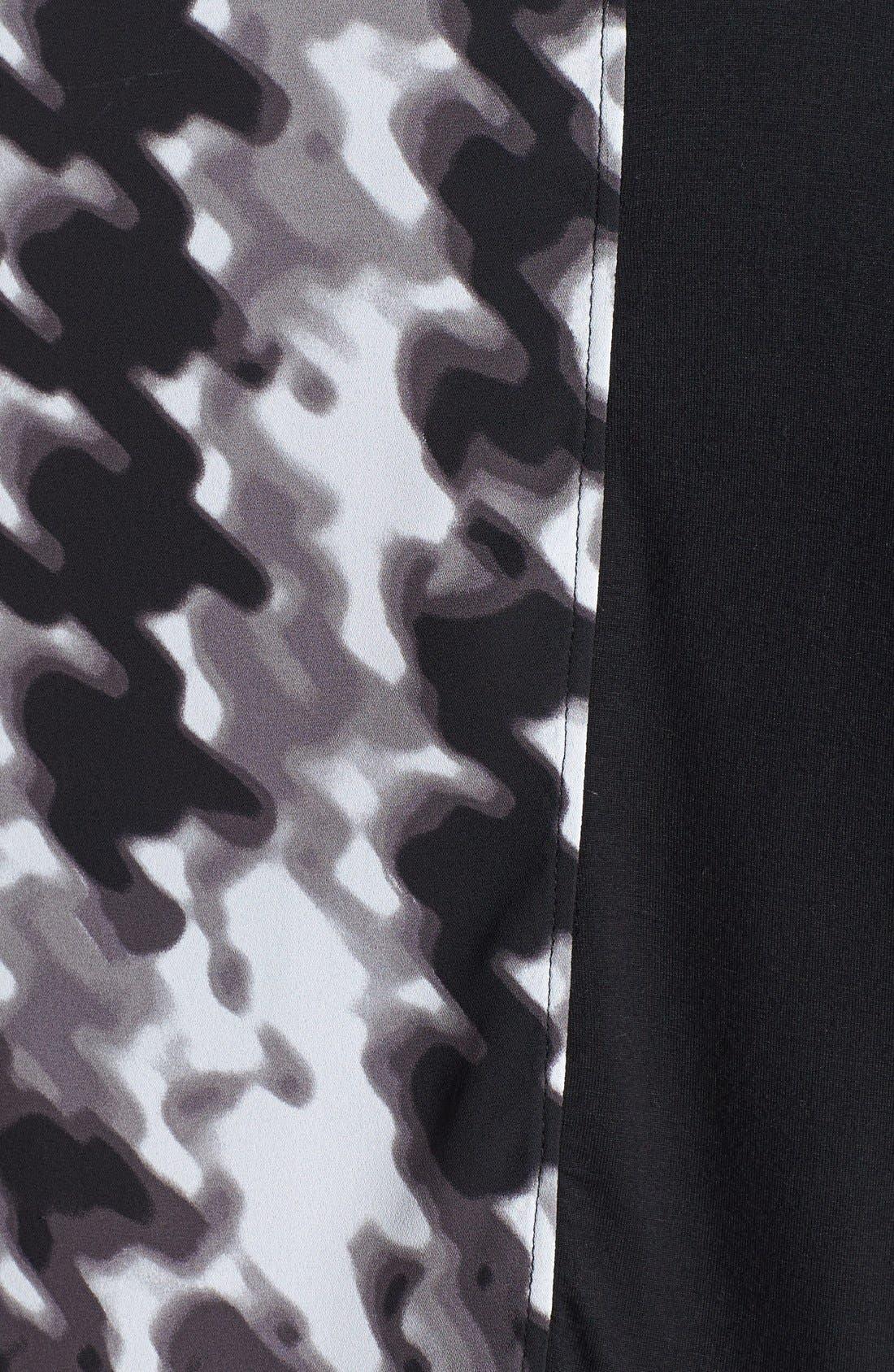 Alternate Image 3  - Sejour Mixed Media Knit Top (Plus Size)