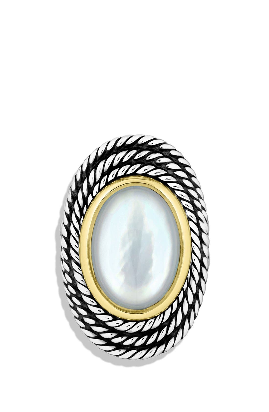 Alternate Image 3  - David Yurman 'Cable Coil' Ring with Moon Quartz and Gold