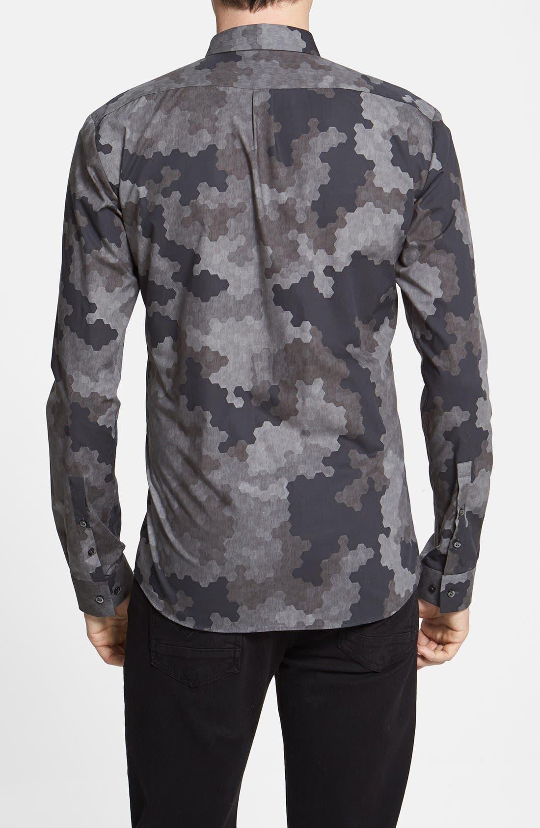 Alternate Image 2  - HUGO 'Ero' Slim Fit Camo Print Sport Shirt