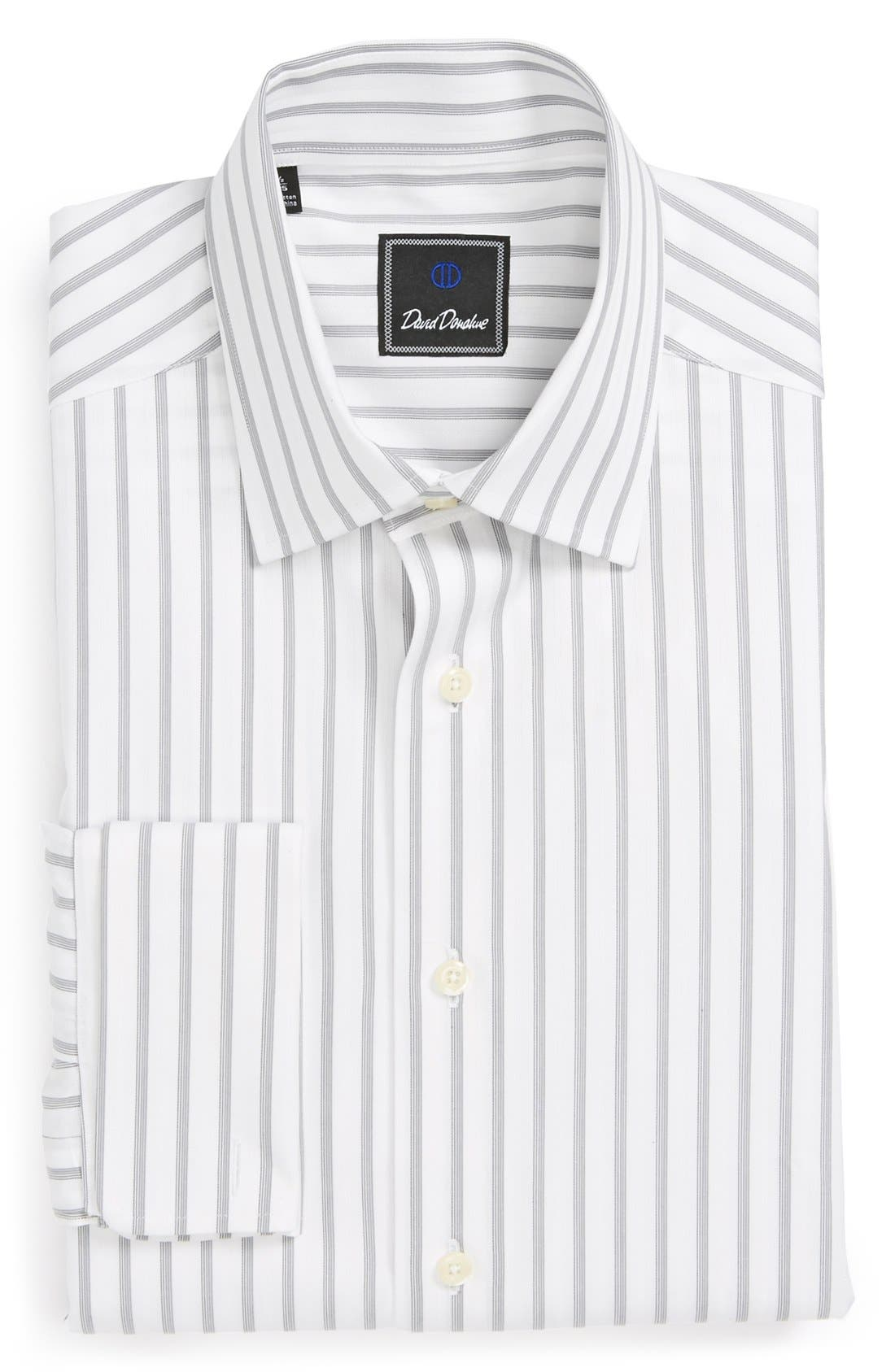 Main Image - David Donahue Regular Fit Stripe Dress Shirt