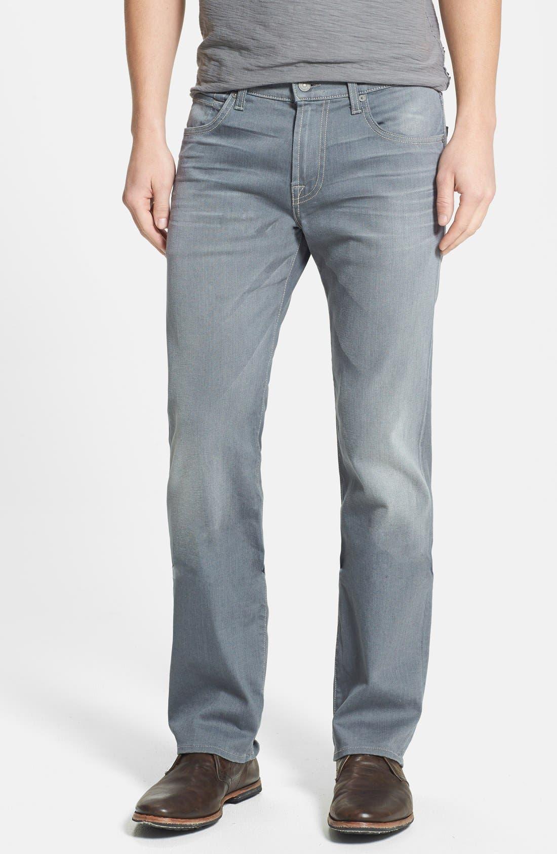 Alternate Image 1 Selected - 7 For All Mankind® 'Carsen' Straight Leg Jeans (Vesper Grey)