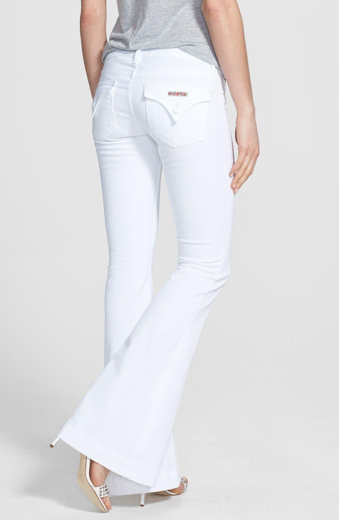 Alternate Image 2  - Hudson Jeans 'Ferris' Flared Jeans (White)
