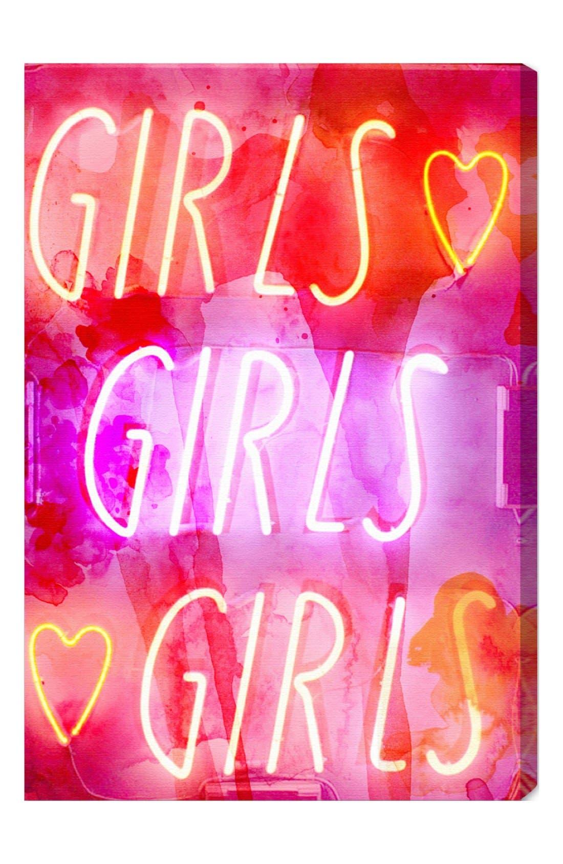 Alternate Image 1 Selected - Oliver Gal 'Girls Girls Girls' Wall Art