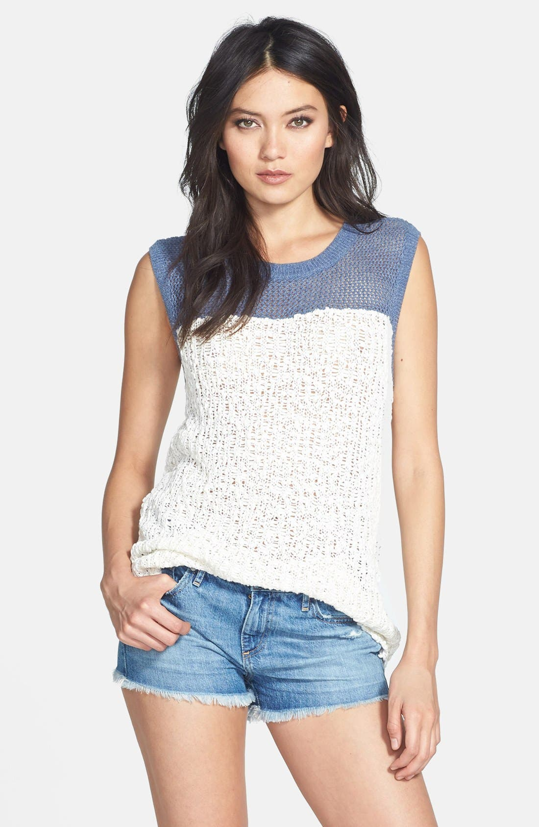 Alternate Image 1 Selected - Hinge® Open Knit Muscle Tank