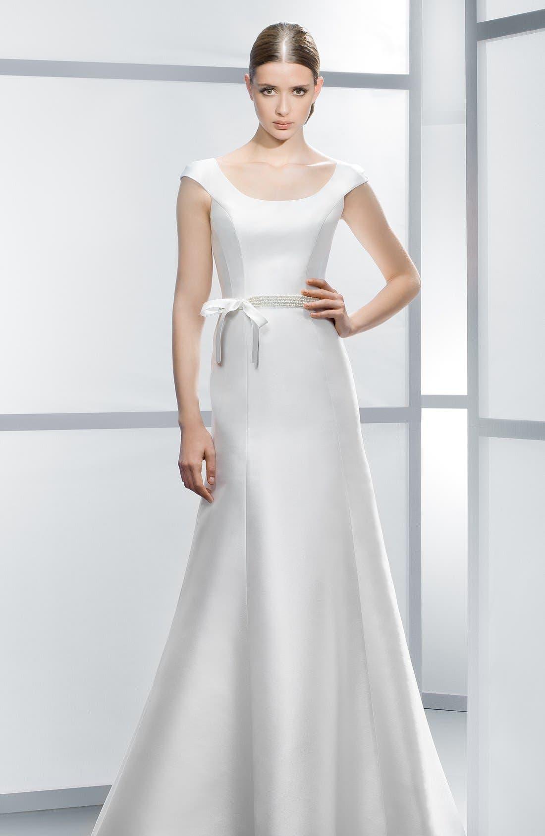 Alternate Image 4  - Jesús Peiró Embellished Waist Mikado A-Line Dress (In Stores Only)