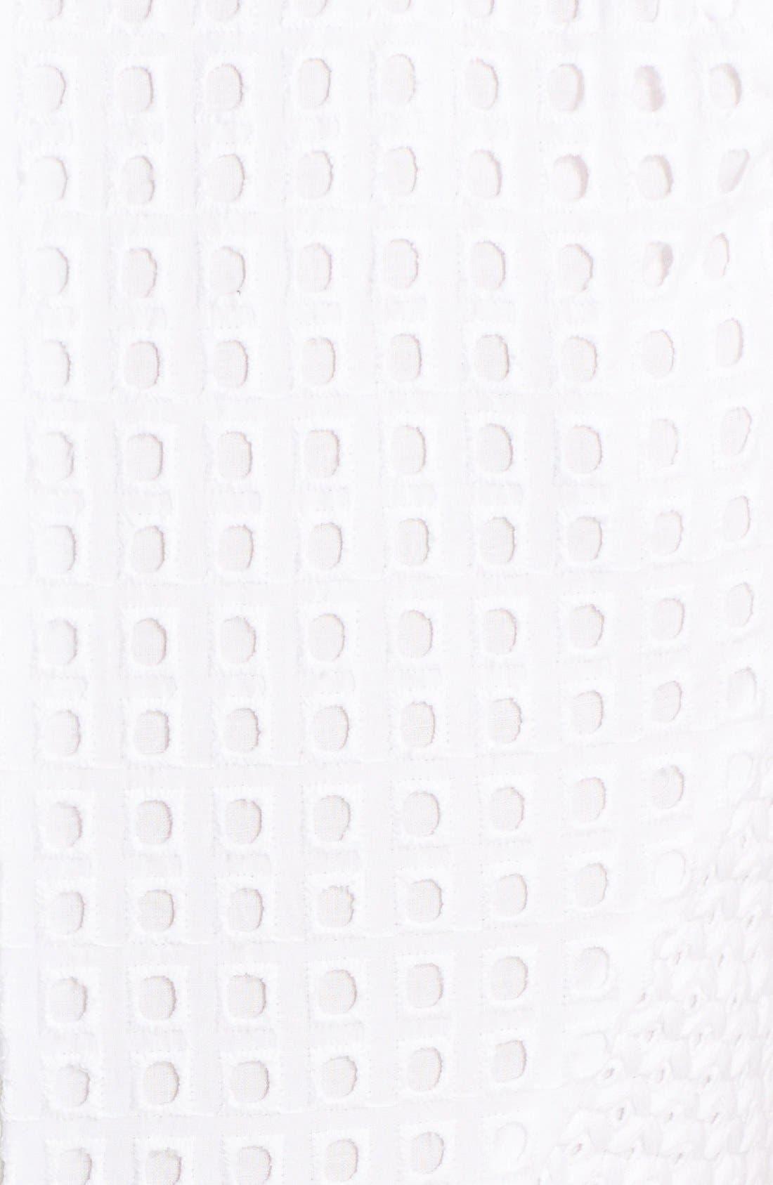 Alternate Image 3  - Rachel Zoe 'Marcel' Cotton Eyelet Fit & Flare Dress