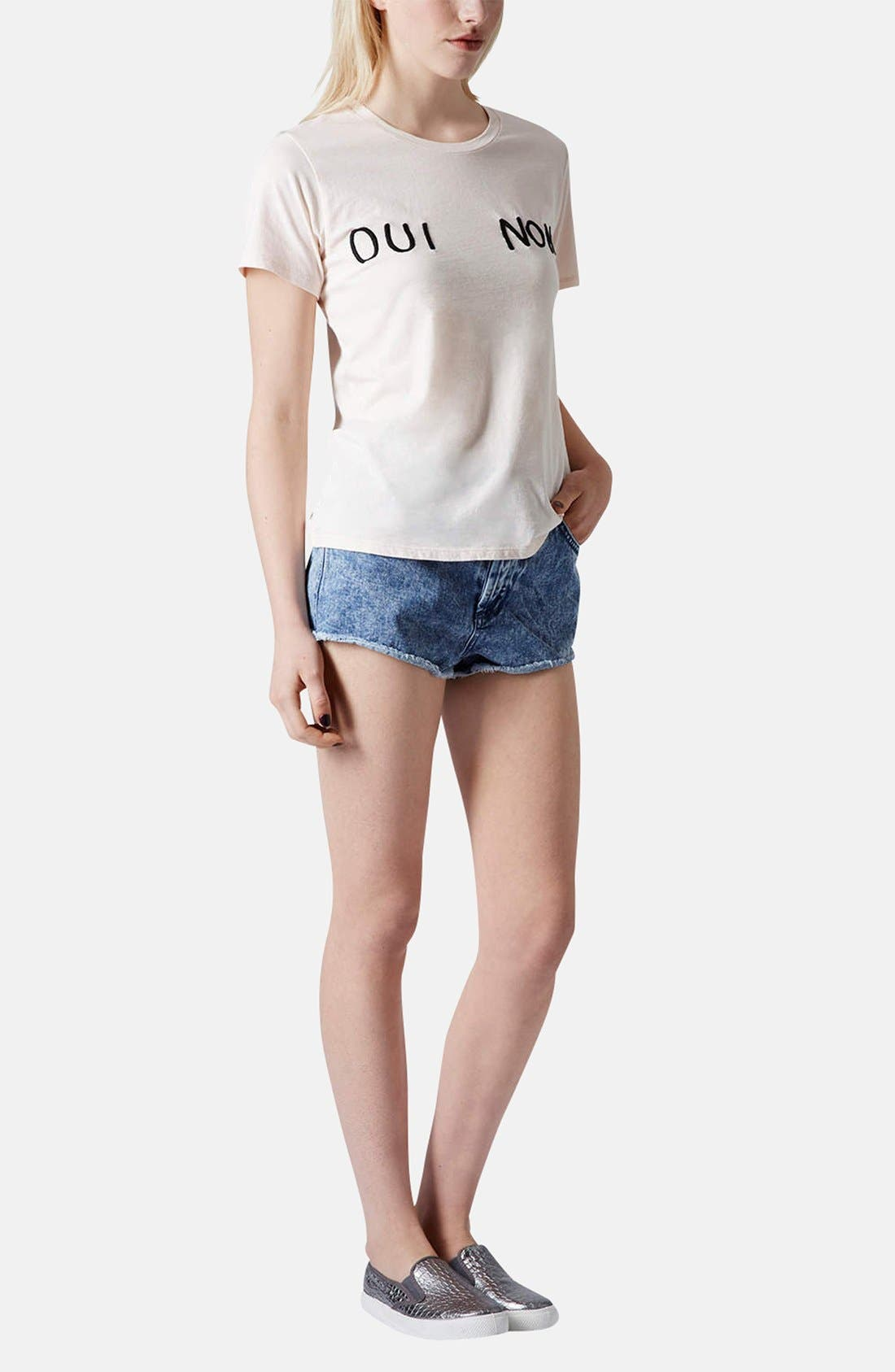 Alternate Image 5  - Topshop 'Oui Non' Embroidered Cotton Tee