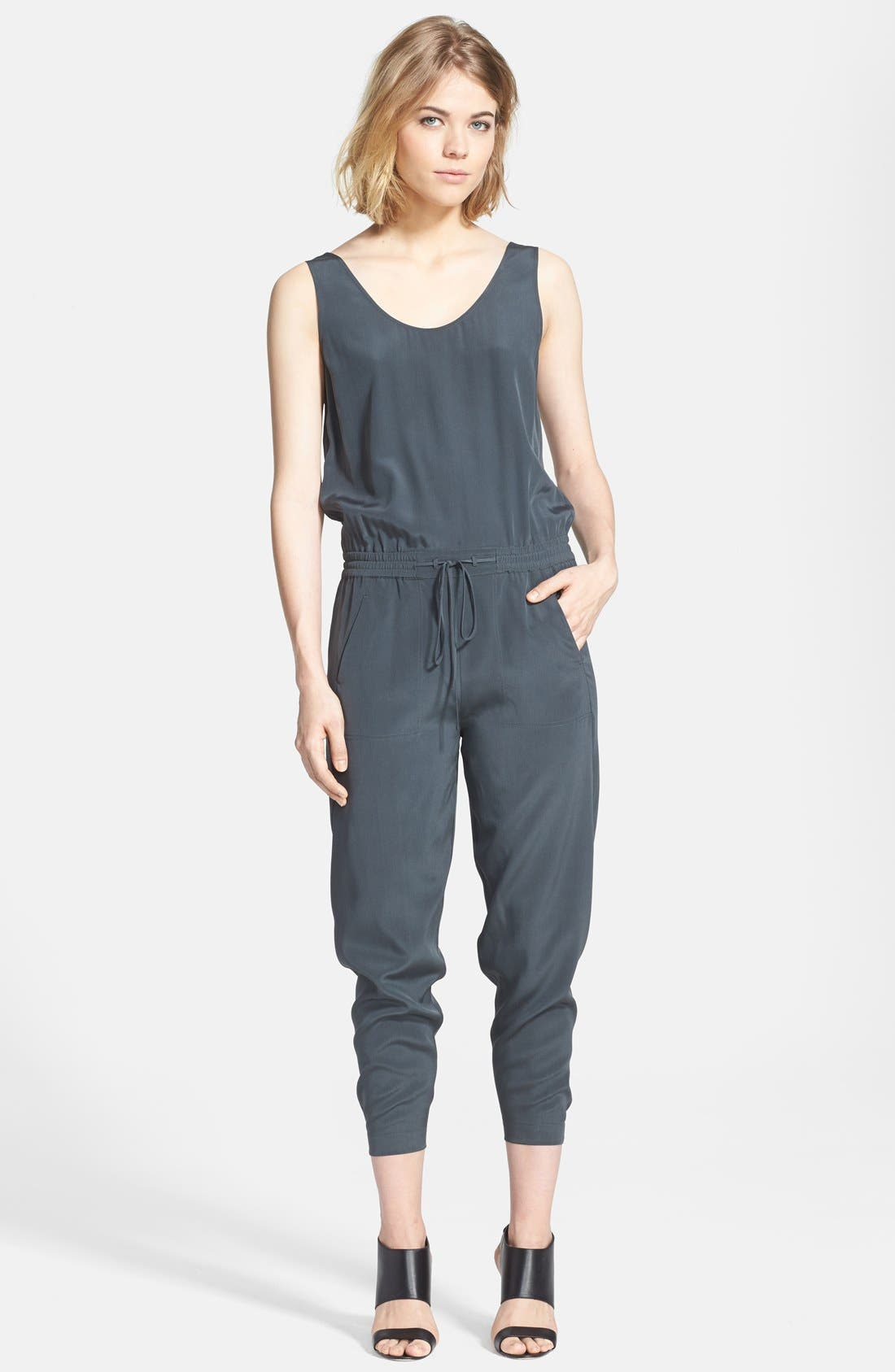 Alternate Image 1 Selected - Vince Sleeveless Silk Jumpsuit