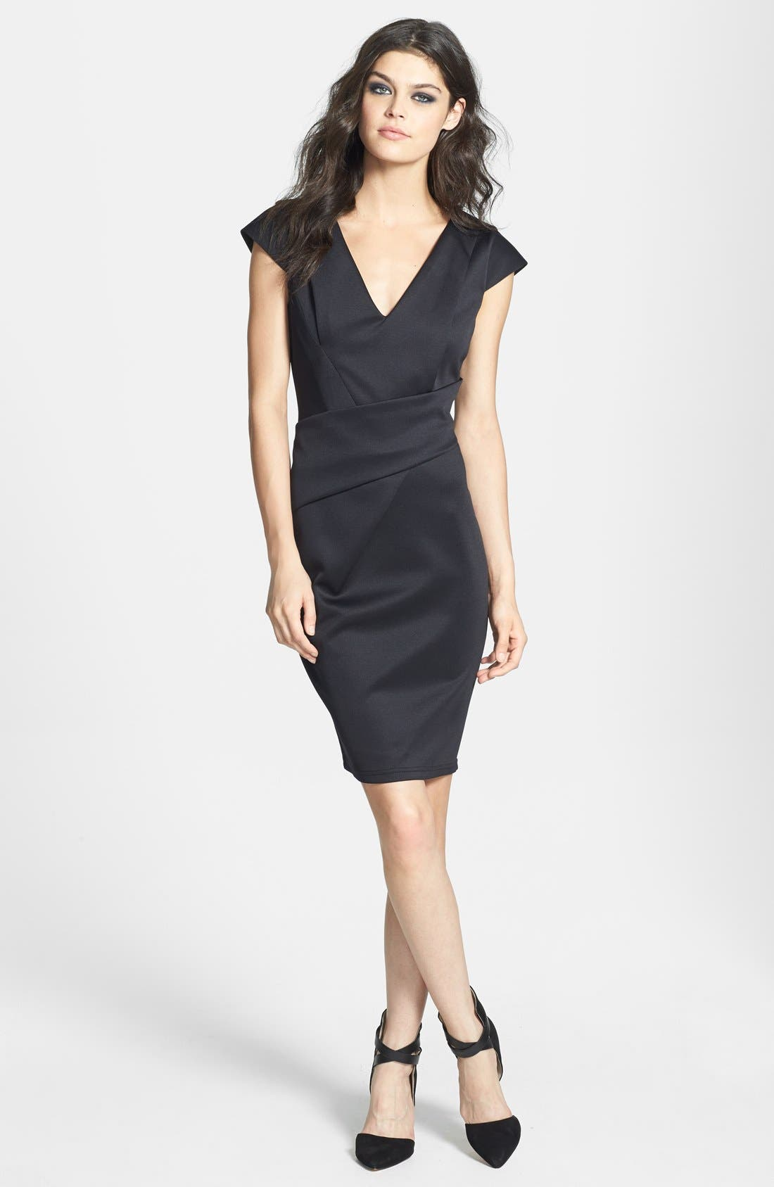 Main Image - Topshop V-Neck Sheath Dress