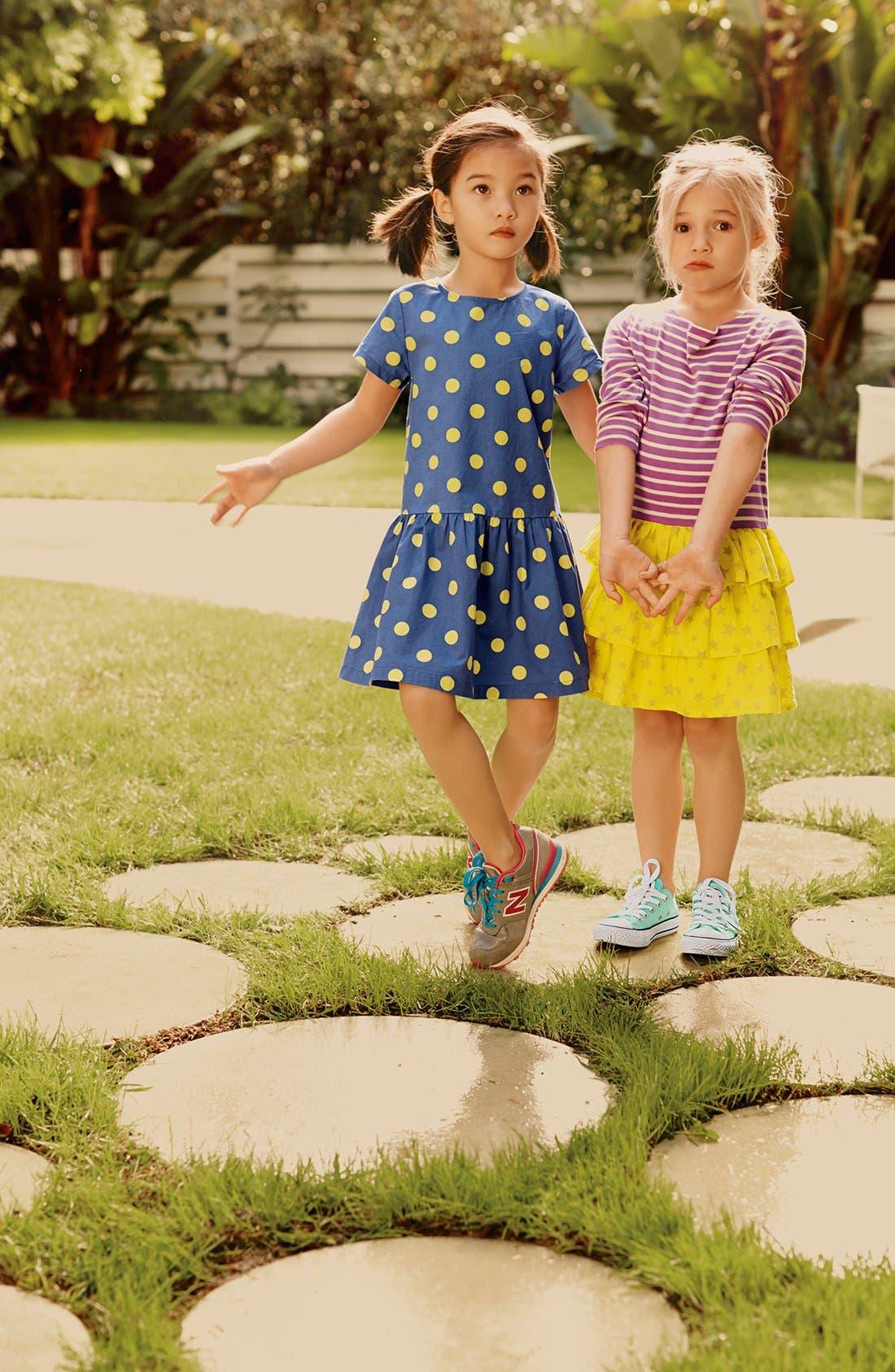 Alternate Image 2  - Mini Boden 'Spotty' Dress (Little Girls & Big Girls)