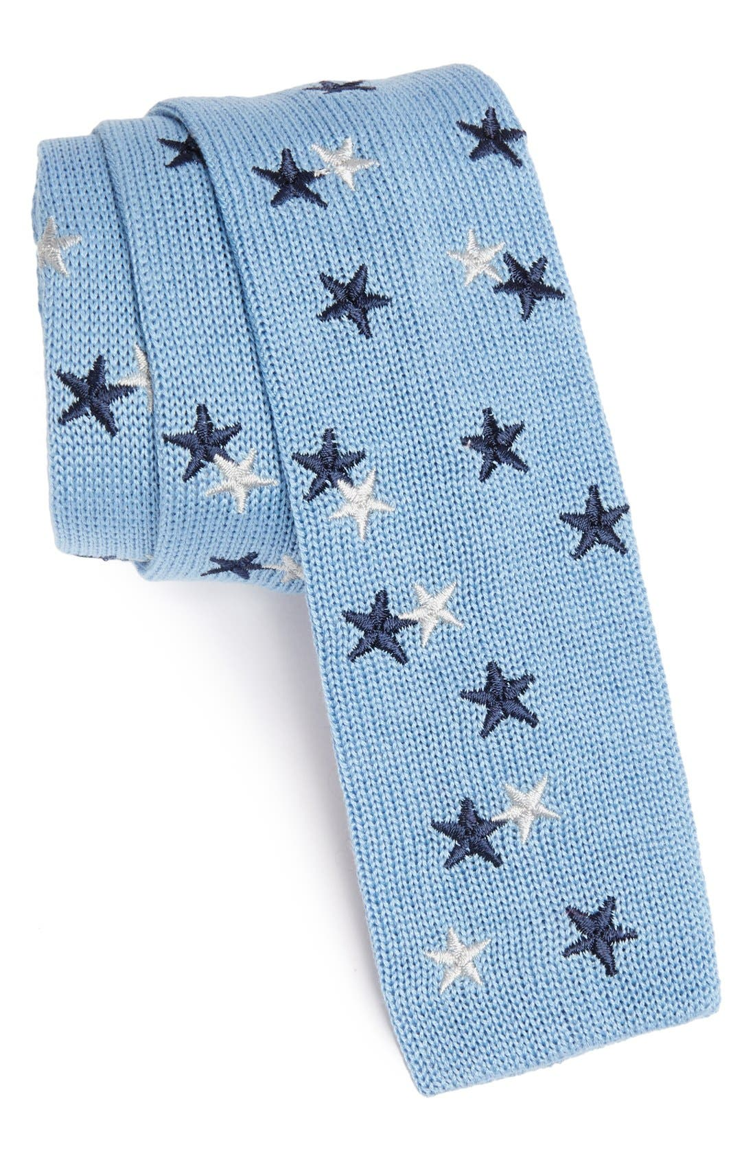 Alternate Image 1 Selected - Ivy Prepster 'Stars' Knit Cotton Tie