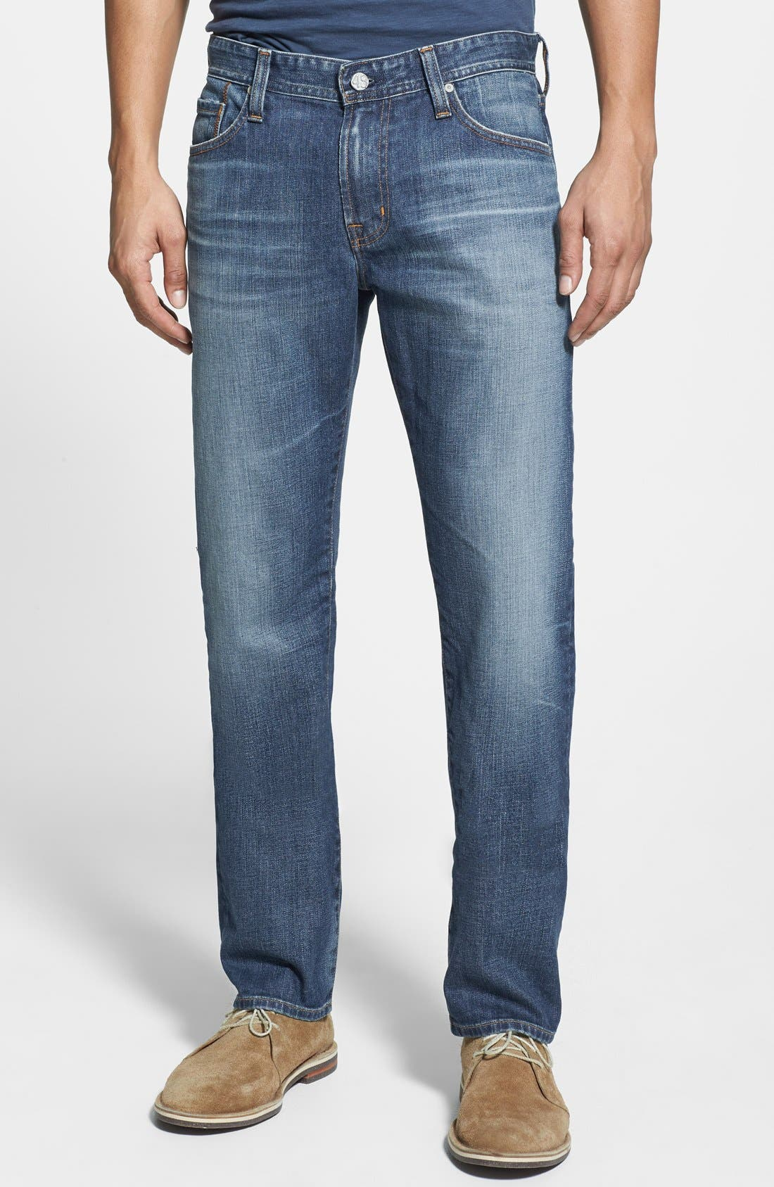 Main Image - AG 'Graduate' Tailored Fit Straight Leg Jeans (13 Years Launch)