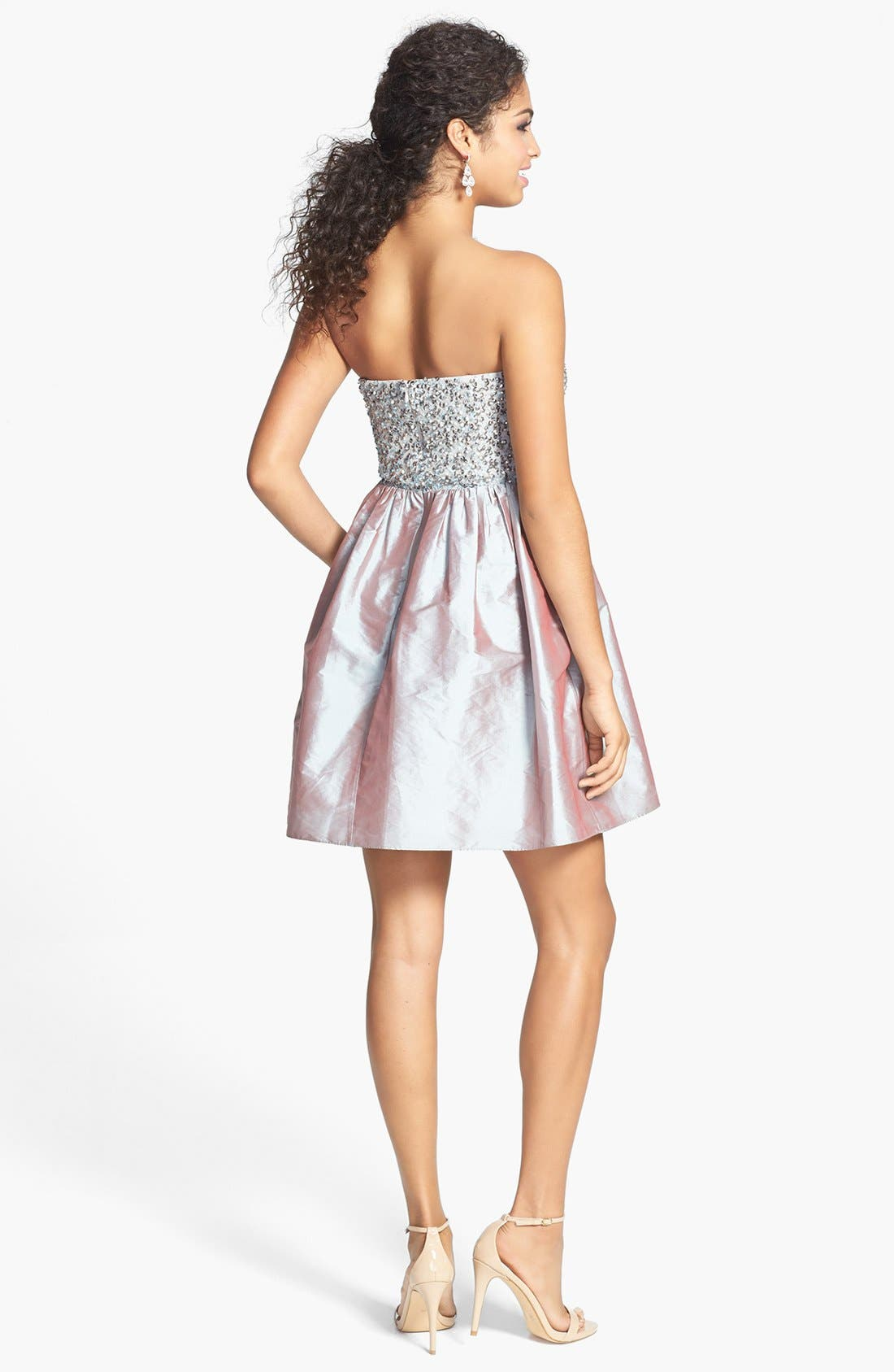 Alternate Image 2  - Adrianna Papell Embellished Bodice Strapless Taffeta Dress