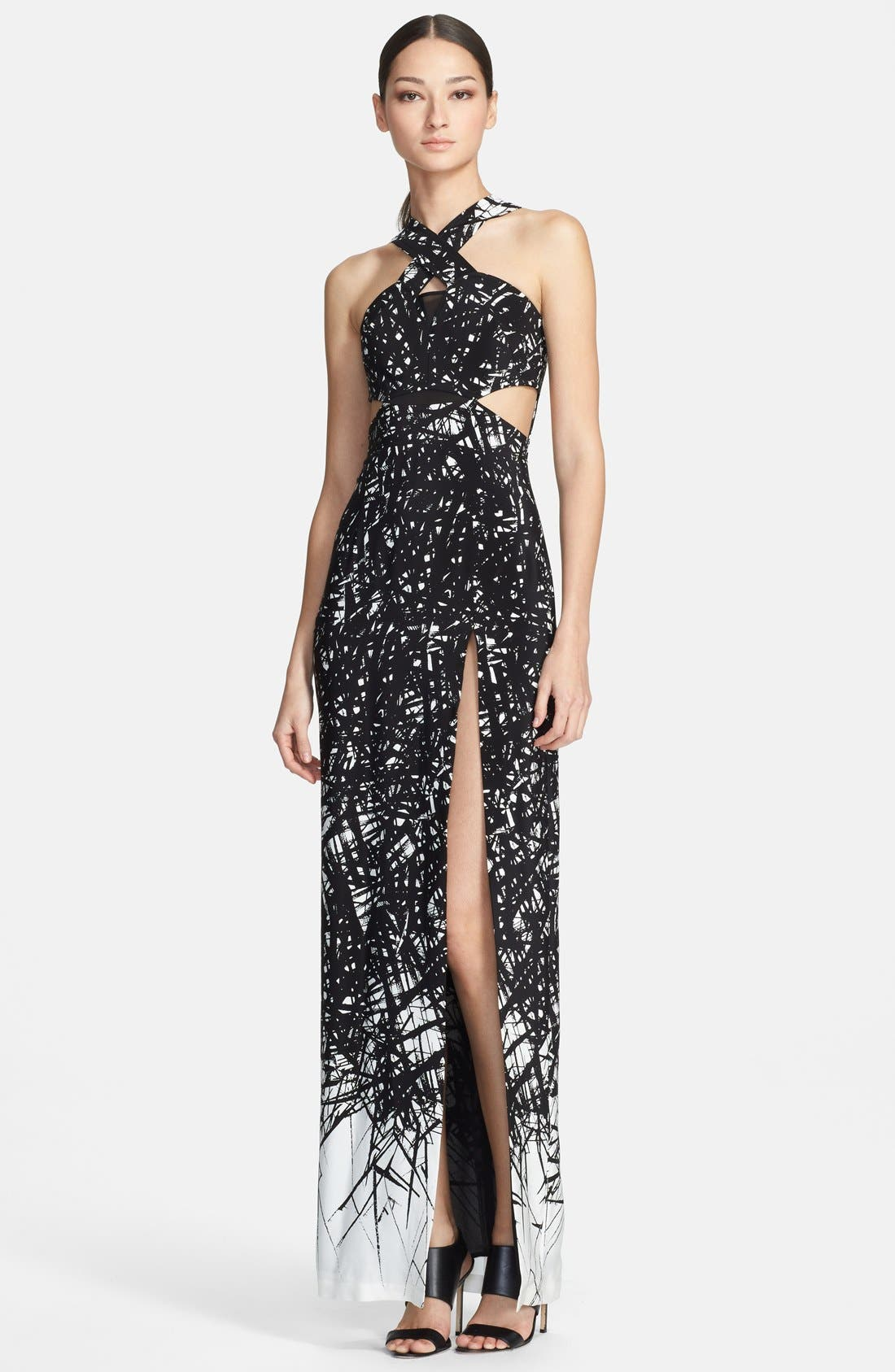 Main Image - Yigal Azrouël Print Silk Knit Gown