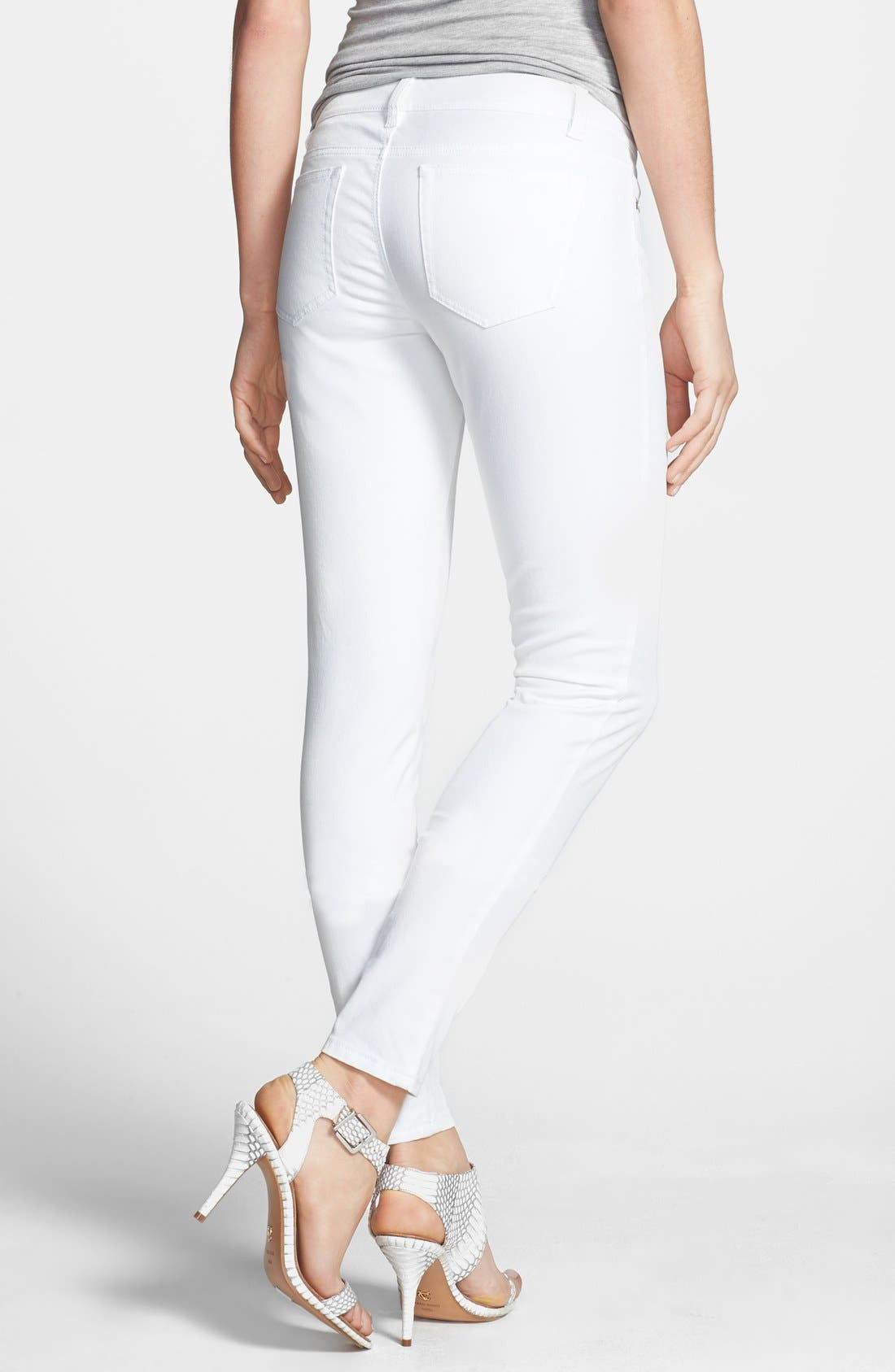 Alternate Image 2  - MICHAEL Michael Kors Zip Detail Skinny Jeans (Regular & Petite)