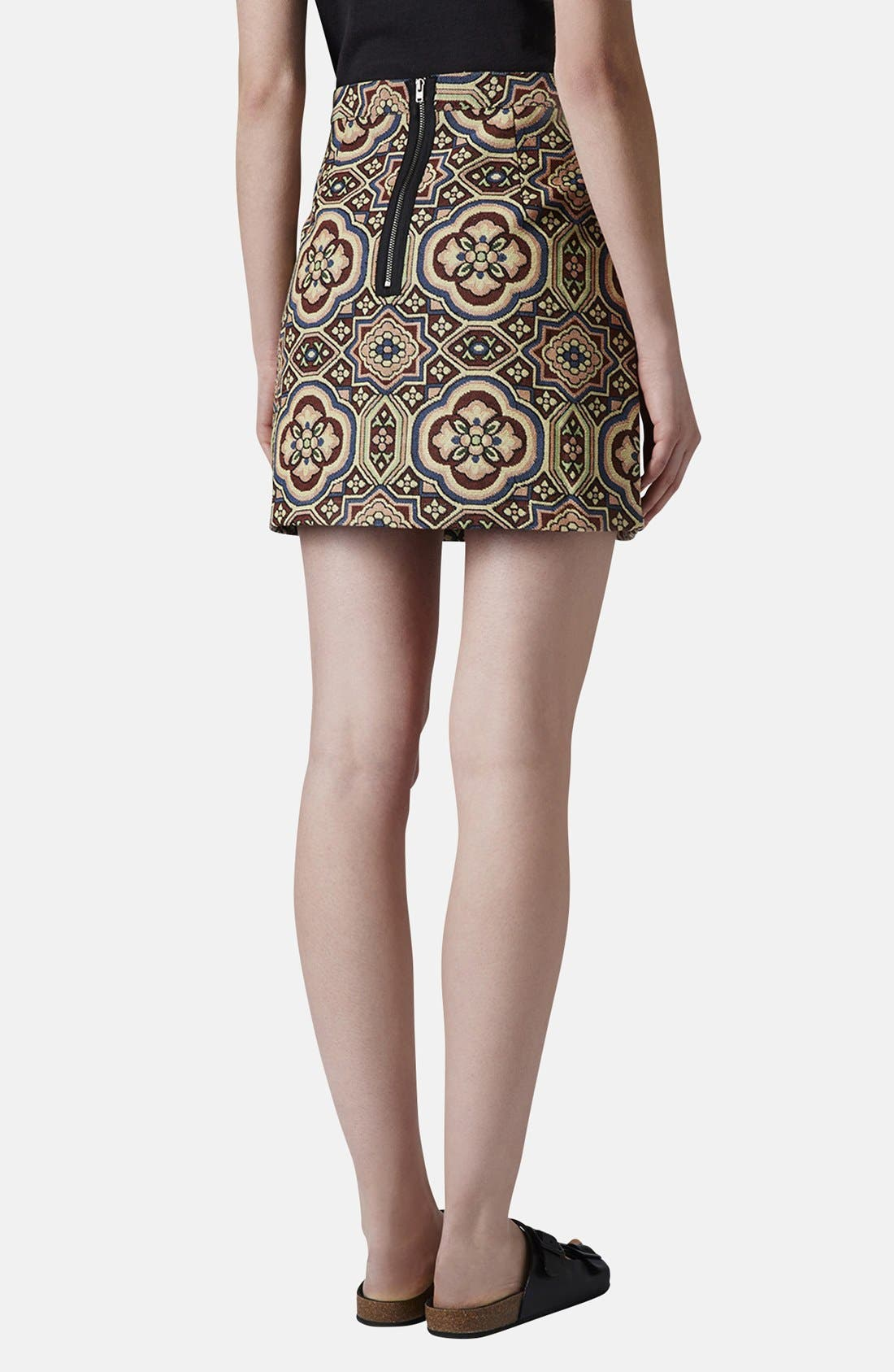 Alternate Image 2  - Topshop Folk Jacquard A-Line Skirt