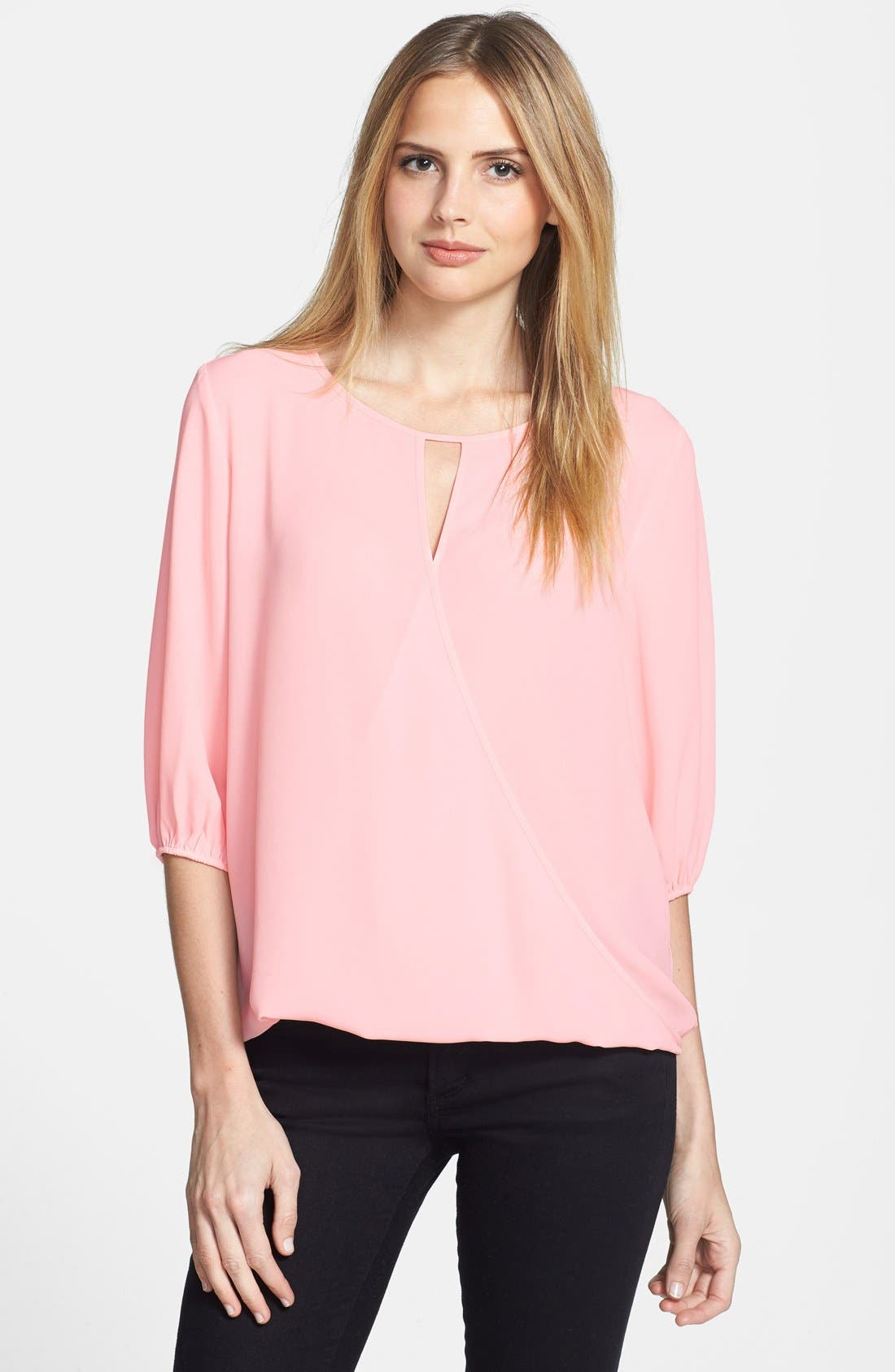 Alternate Image 1 Selected - Vince Camuto Faux Wrap Front Blouse