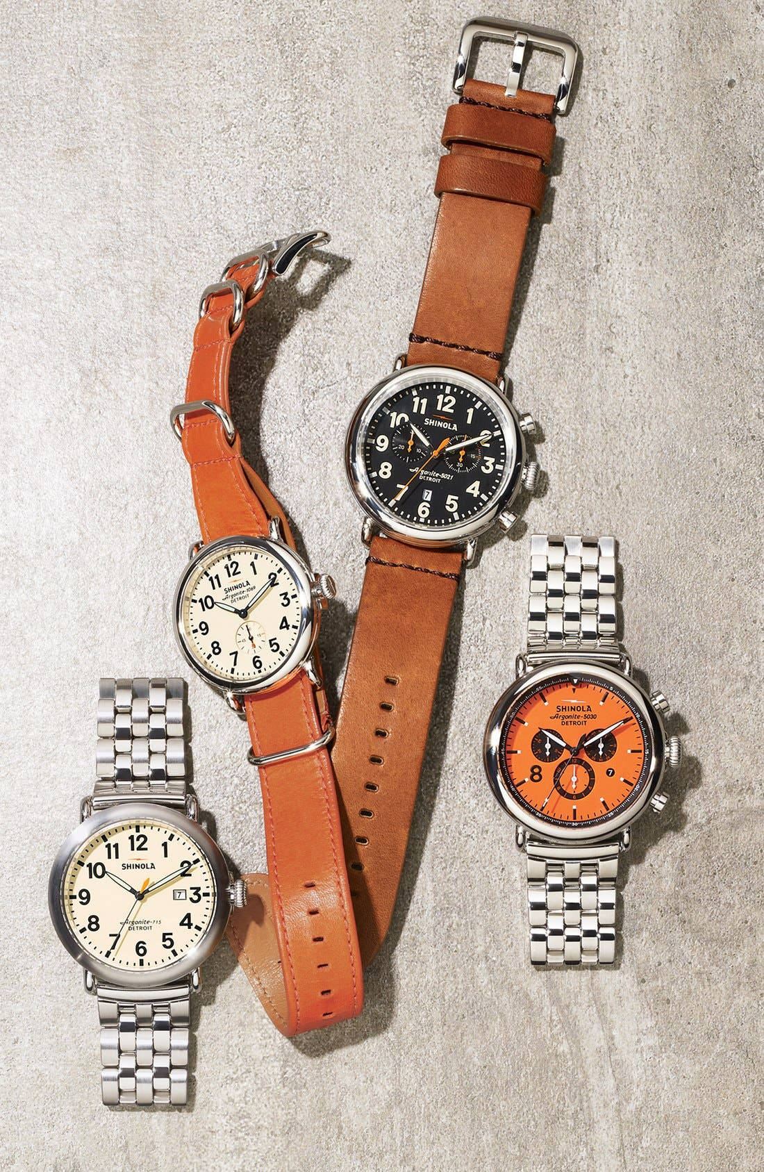 Alternate Image 5  - Shinola 'The Runwell' Leather Strap Watch, 41mm