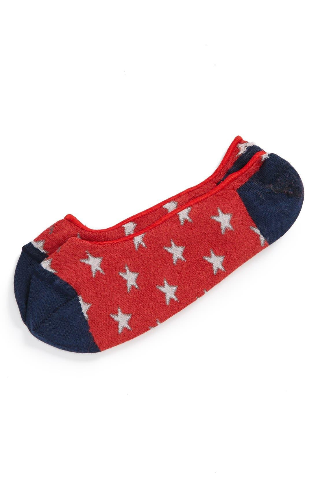 Alternate Image 1 Selected - hook + ALBERT 'Stars and Stripes' No-Show Socks