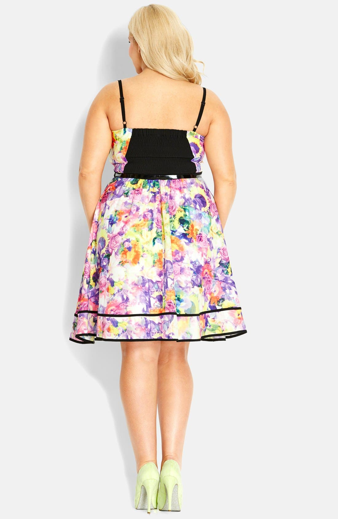 Alternate Image 2  - City Chic 'Rose Mirage' Dress (Plus Size)