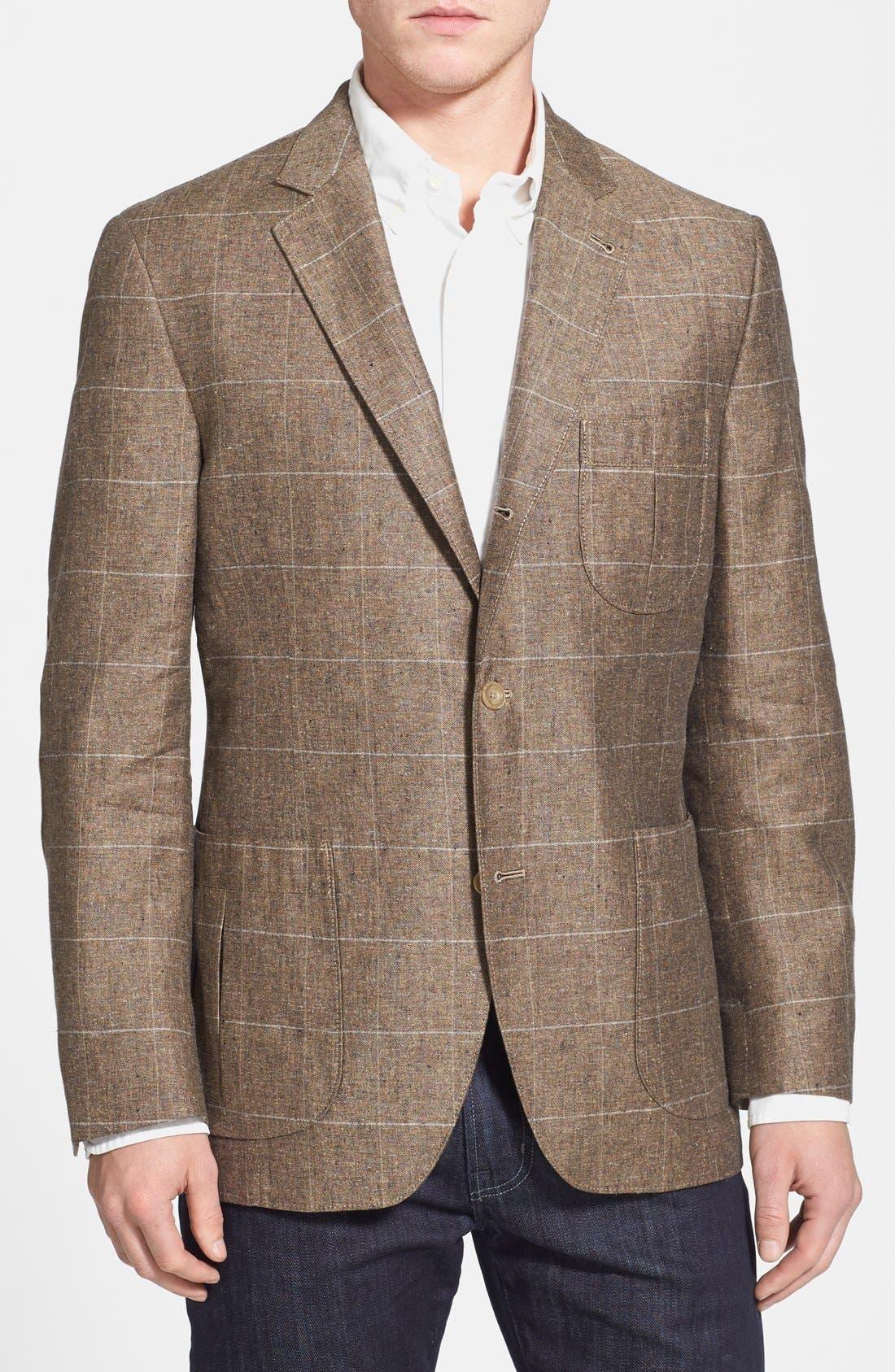 Main Image - Kroon 'Fray' Regular Fit Silk & Linen Blazer