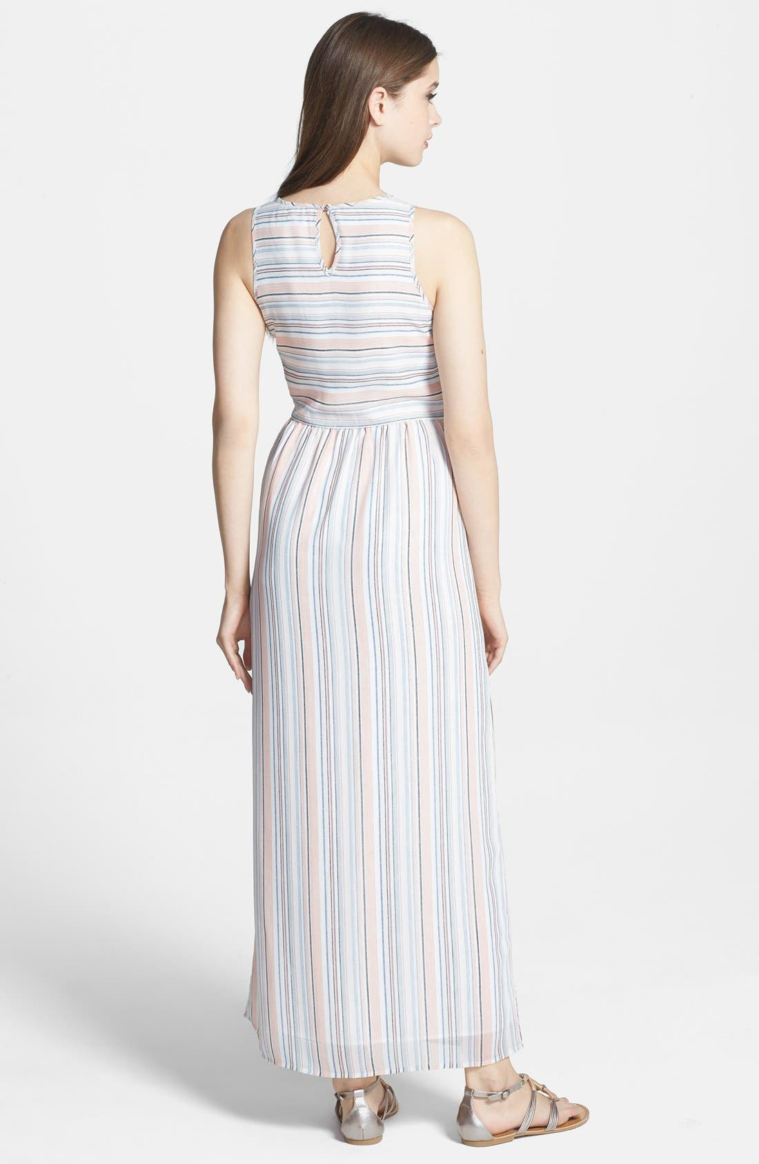 Alternate Image 2  - Olive & Oak Stripe Maxi Dress