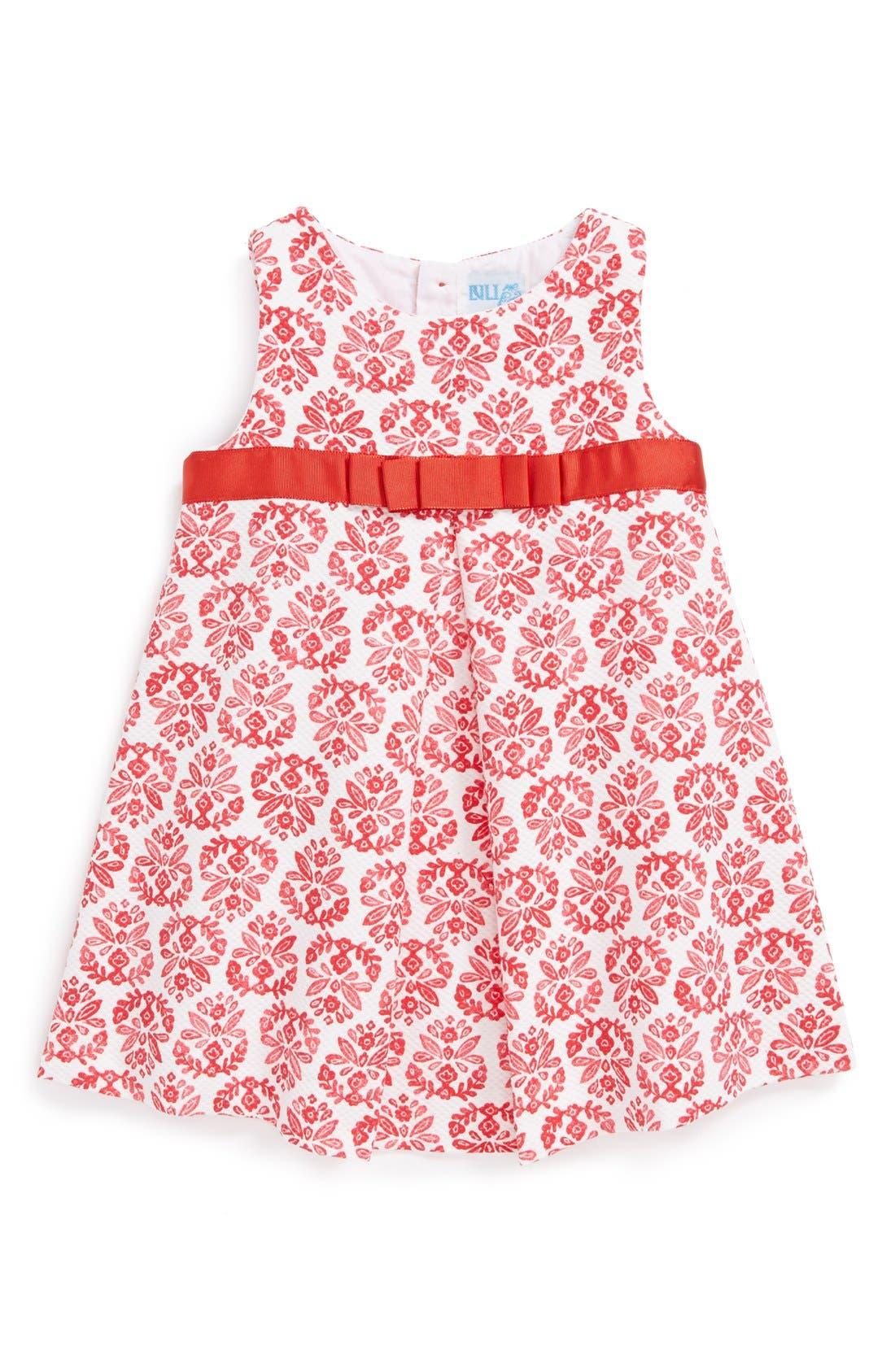 Main Image - Luli & Me Print Cotton & Linen A-Line Dress (Baby Girls)