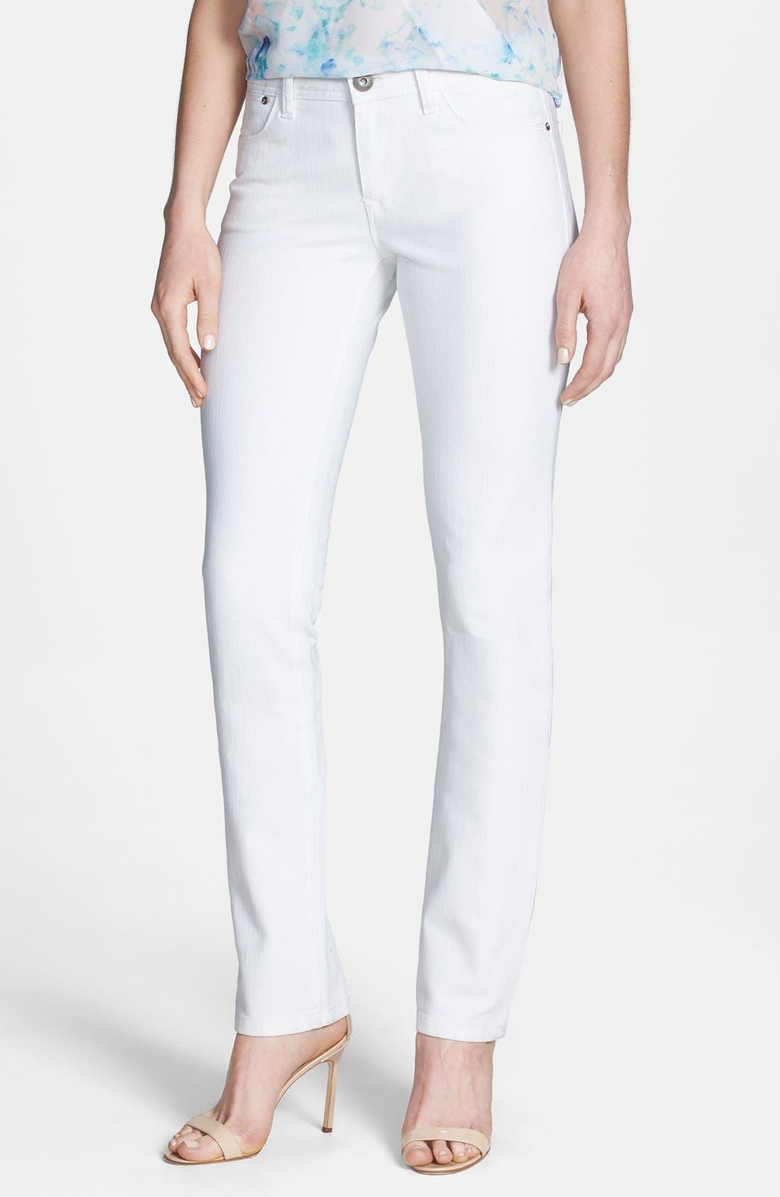 Alternate Image 1 Selected - DL1961 'Coco' Curvy Straight Jeans (Milk)