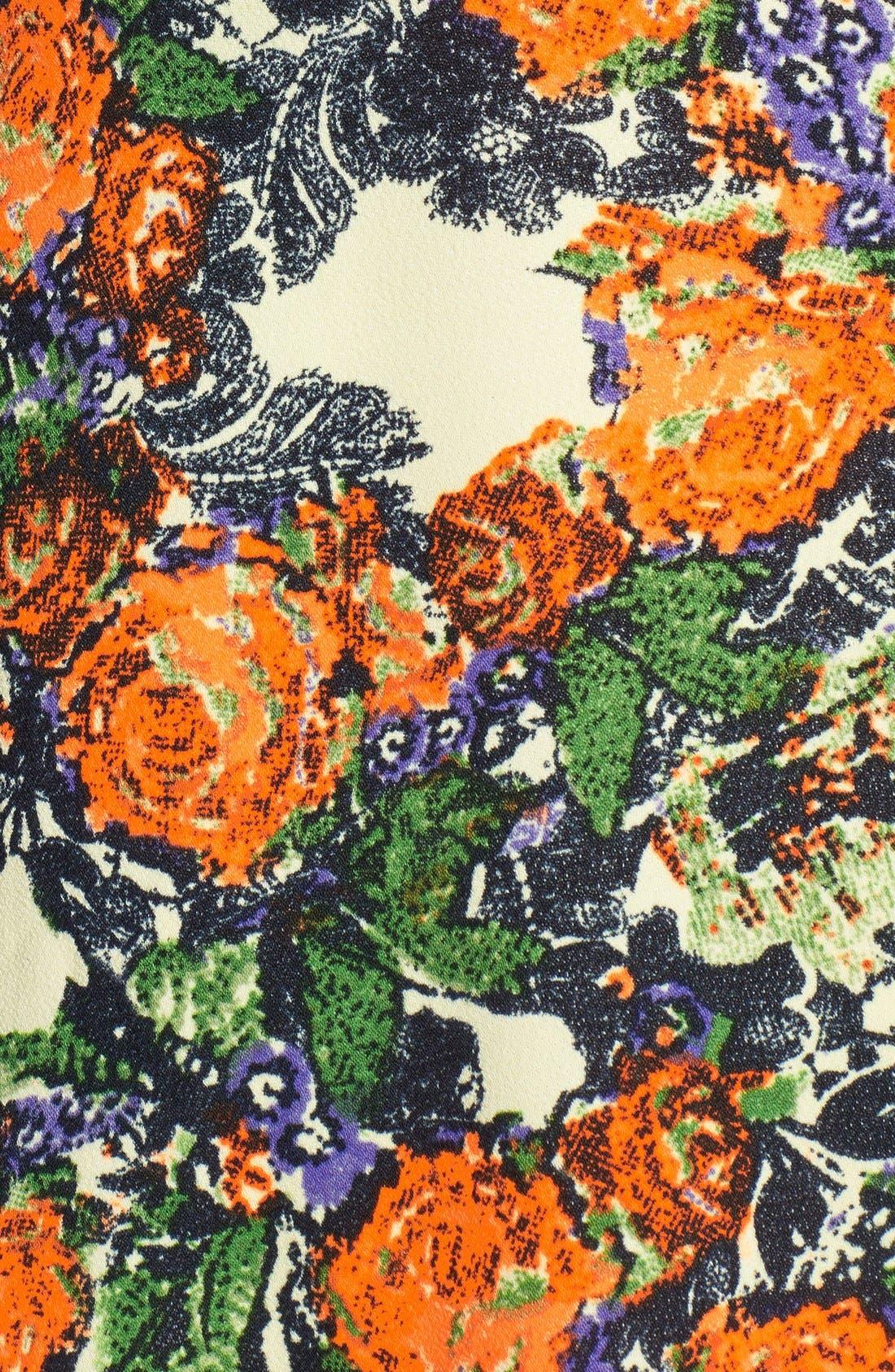 Alternate Image 3  - JOA Cage Back Floral Fit & Flare Dress