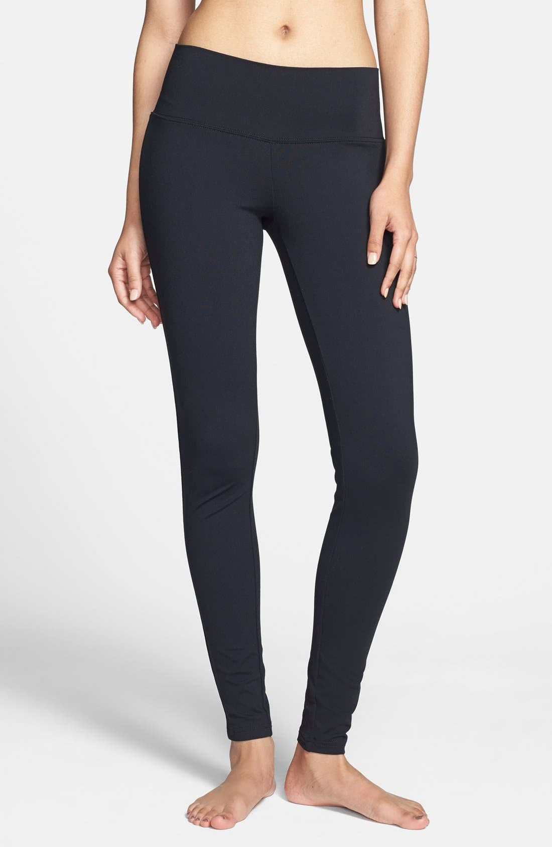 Main Image - BP. Wide Waistband Essential Leggings (Juniors)