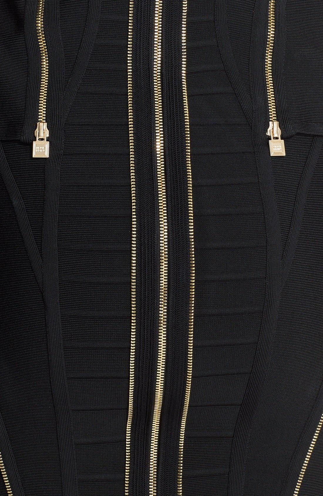 Alternate Image 3  - Herve Leger Zip Detail Bandage Peplum Dress