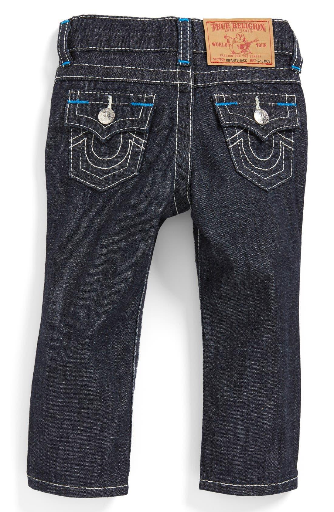Alternate Image 1 Selected - True Religion Brand Jeans 'Jack' Slim Fit Jeans (Baby Boys)