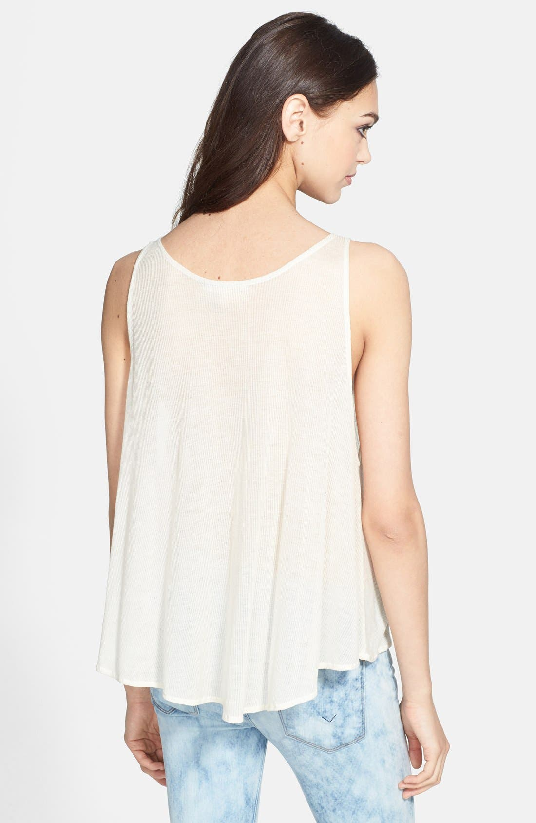 Alternate Image 4  - Wildfox 'Friends' Sheer Ribbed Tank