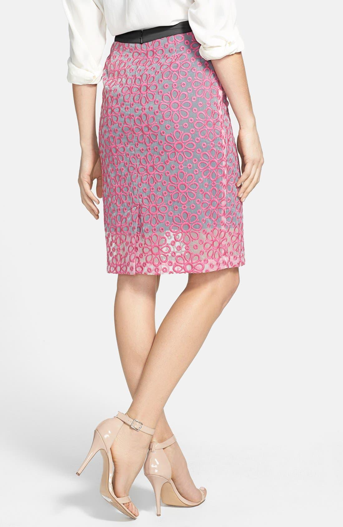 Alternate Image 2  - Halogen® Daisy Organza Skirt