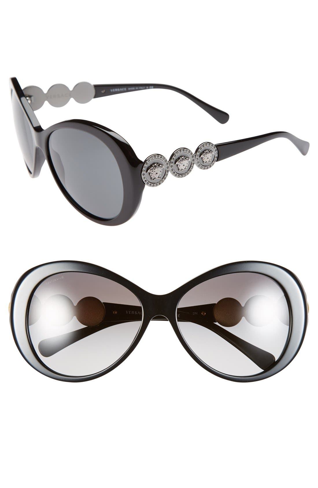 Alternate Image 1 Selected - Versace 58mm Round Sunglasses