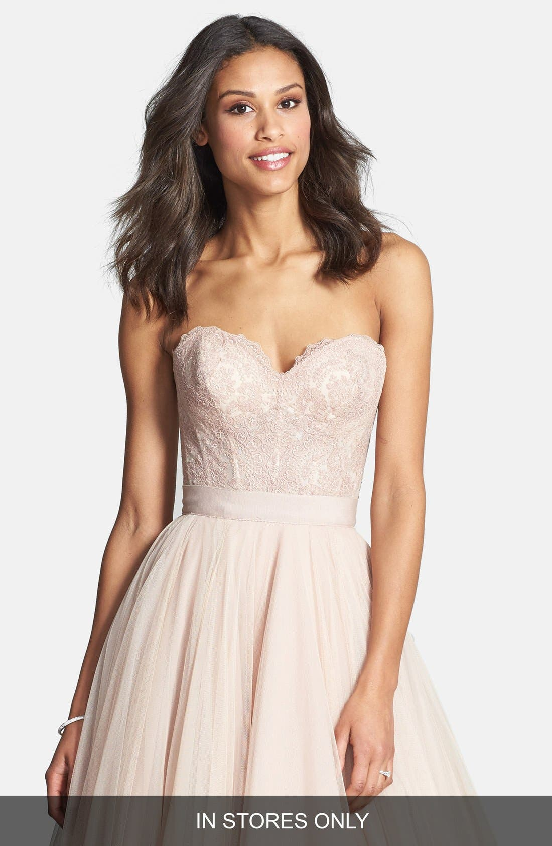 Main Image - Watters 'Carina' Lace Bustier (In Stores Only)