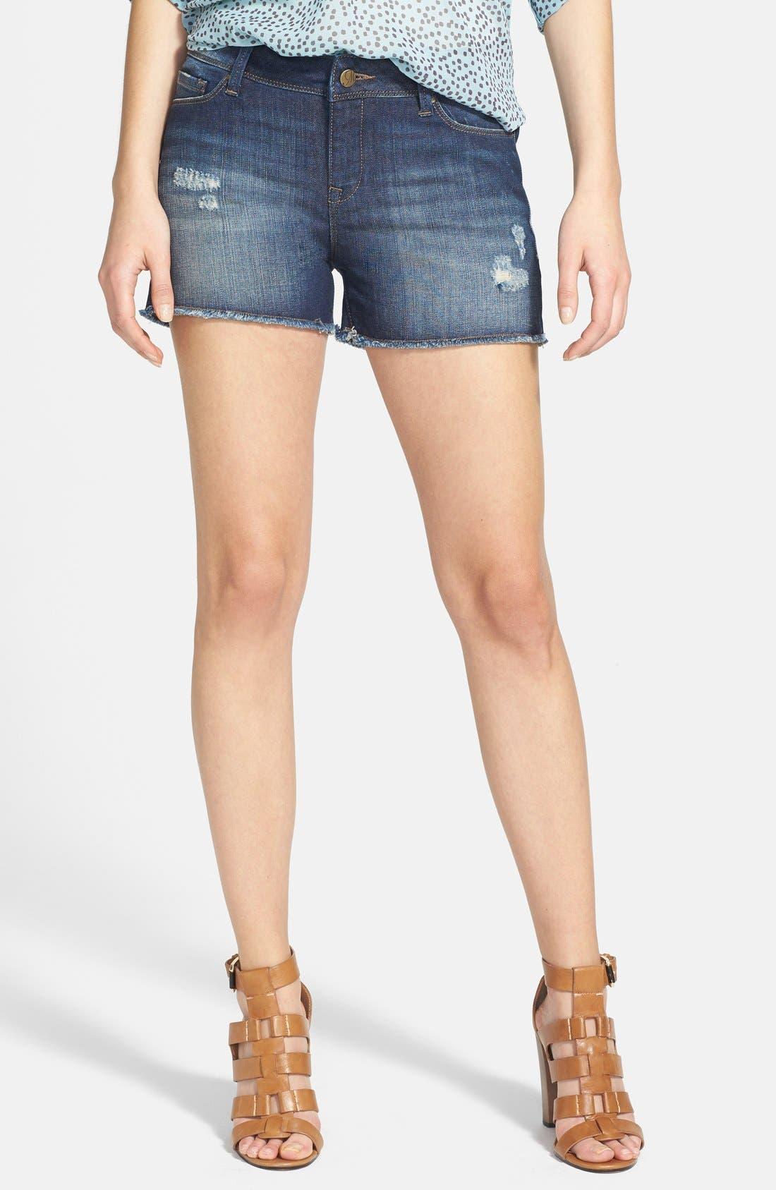 Alternate Image 1 Selected - Mavi Jeans 'Emily' Cutoff Destroyed Denim Shorts (Vintage)