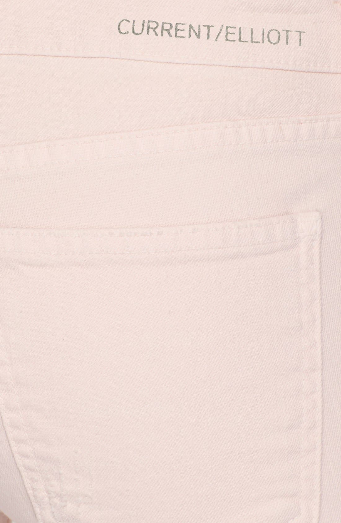 Alternate Image 3  - Current/Elliott 'The Stiletto' Jeans (Dusty Pink)
