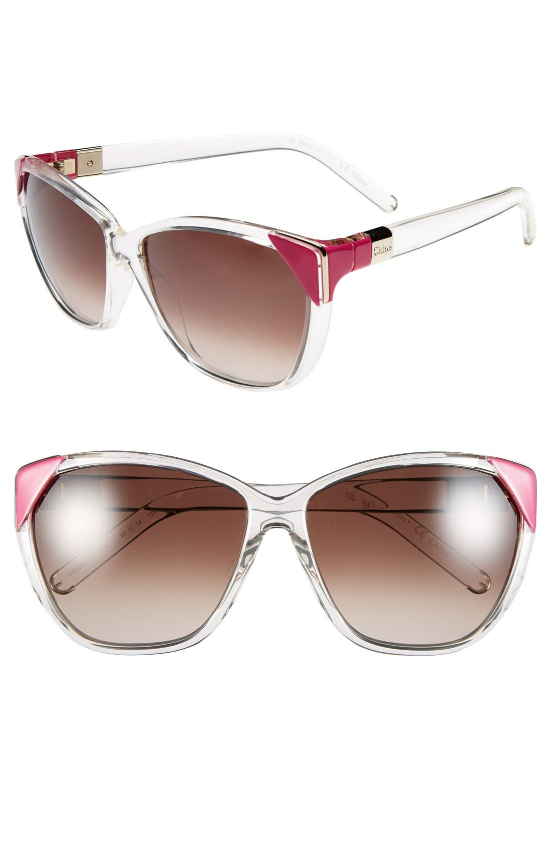 Alternate Image 1 Selected - Chloé 60mm Retro Sunglasses