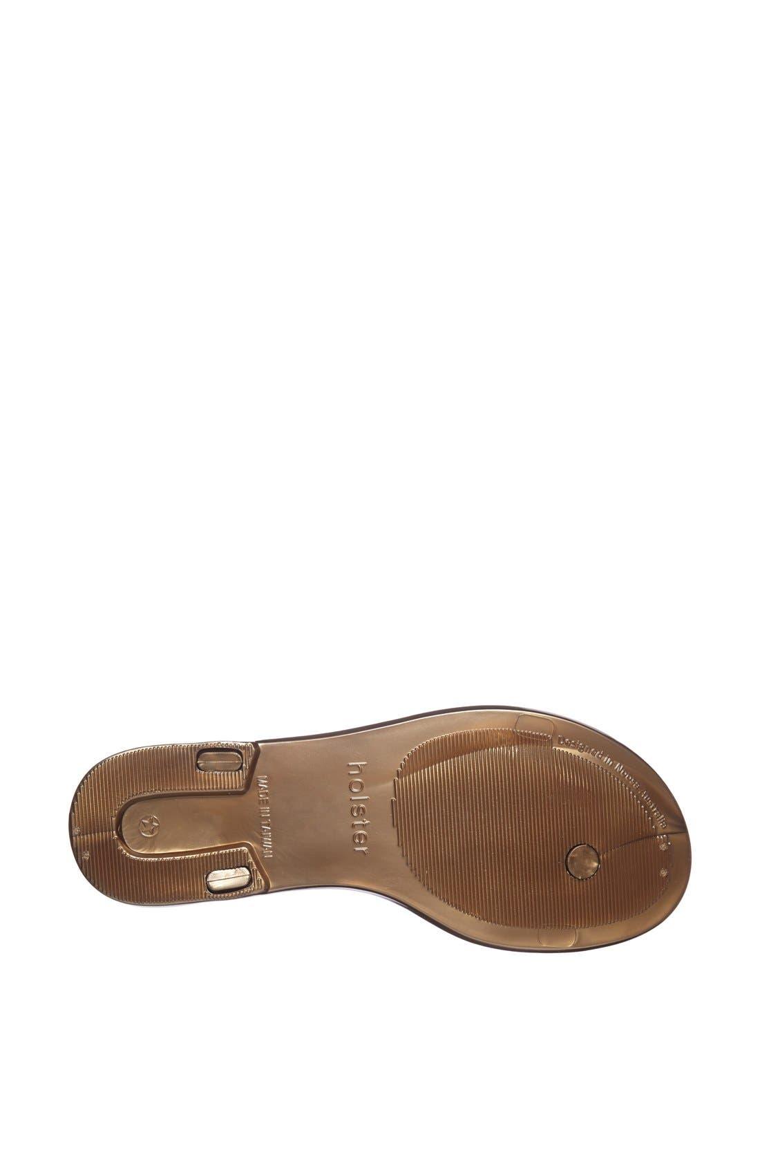 Alternate Image 4  - Holster Fashion 'Rockstar' Jelly Thong Sandal